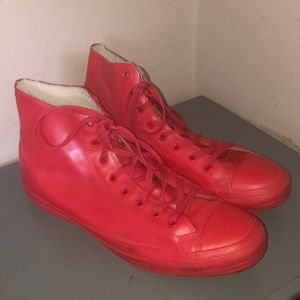Converse all star red rubber sneakers hi top sz 13